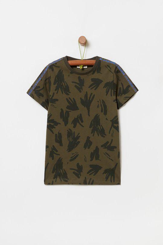 vojenská zelená OVS - Detské tričko 104-140 cm Chlapčenský