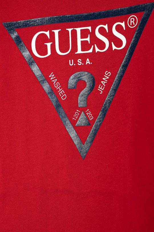 Guess Jeans - T-shirt dziecięcy 92-116 cm czerwony