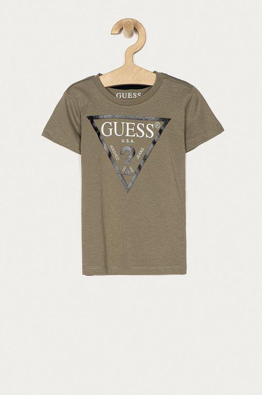 brązowa zieleń Guess Jeans - T-shirt dziecięcy 92-116 cm Chłopięcy