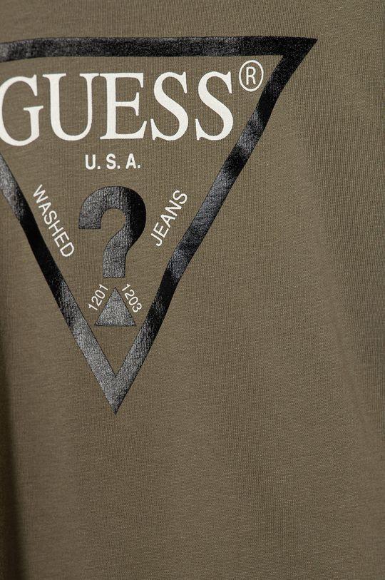 Guess Jeans - T-shirt dziecięcy 92-116 cm brązowa zieleń