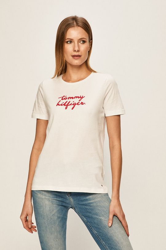 alb Tommy Hilfiger - Tricou De femei