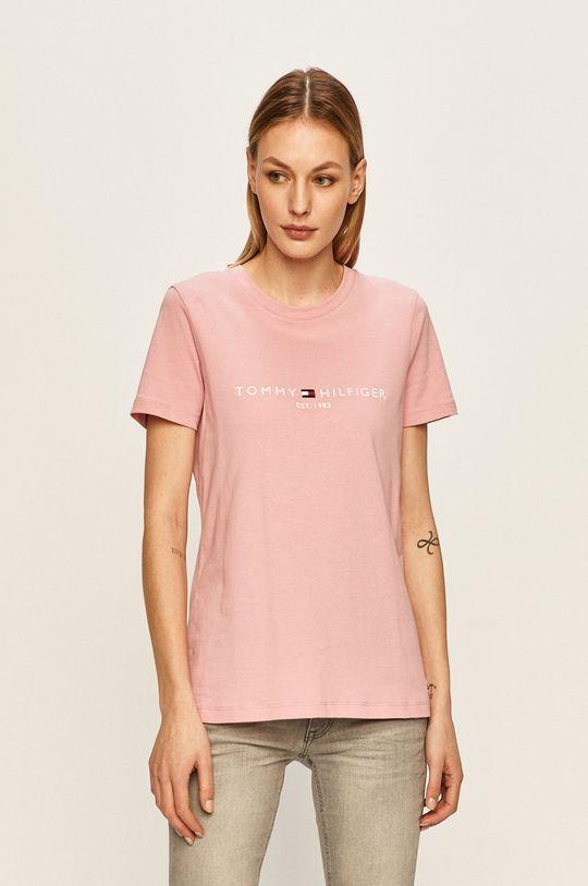 roz Tommy Hilfiger - Tricou De femei