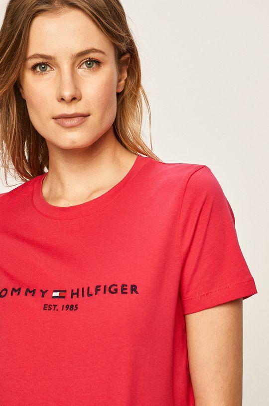 roz Tommy Hilfiger - Tricou