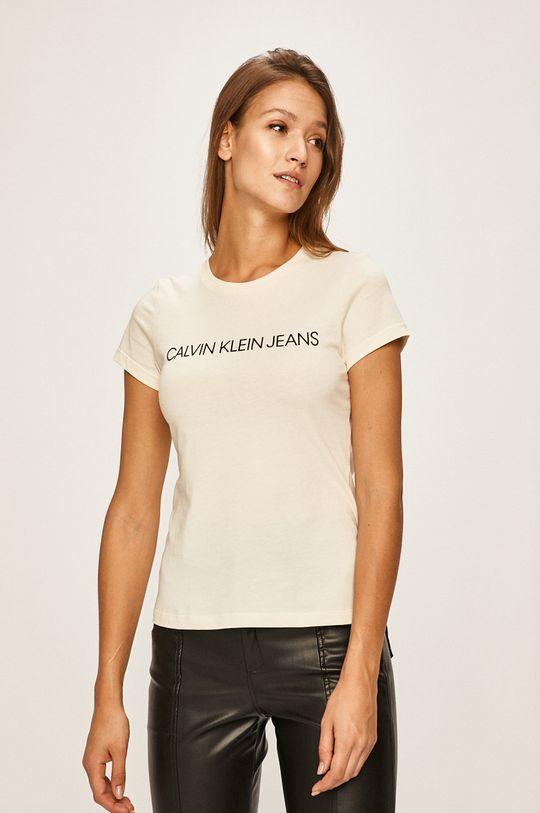smetanová Calvin Klein Jeans - Tričko Dámský
