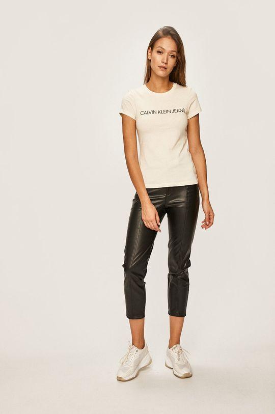 Calvin Klein Jeans - Tričko smetanová