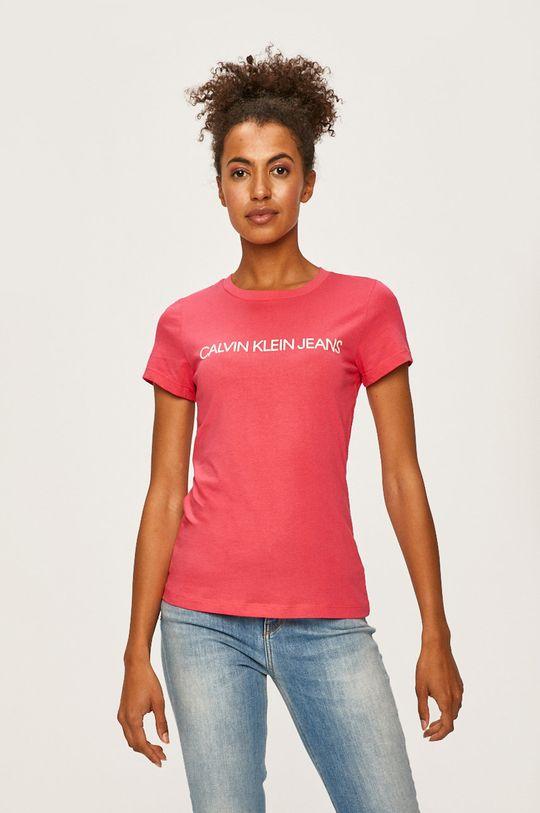 růžová Calvin Klein Jeans - Tričko Dámský