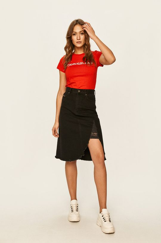 Calvin Klein Jeans - Tricou rosu