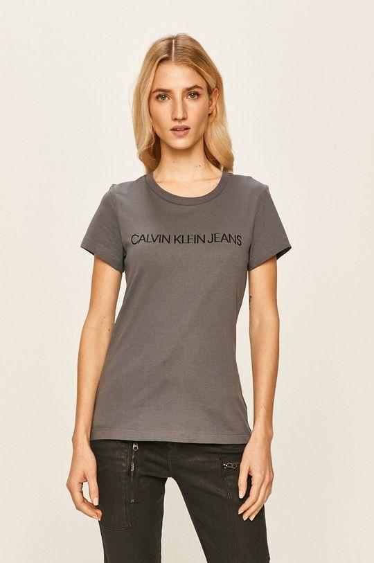 ocelová fialová Calvin Klein Jeans - Tričko