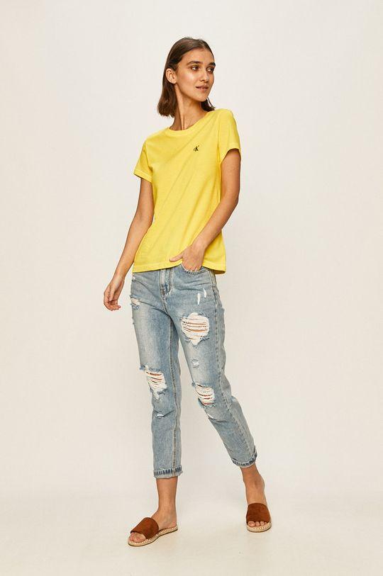 Calvin Klein Jeans - Tricou galben