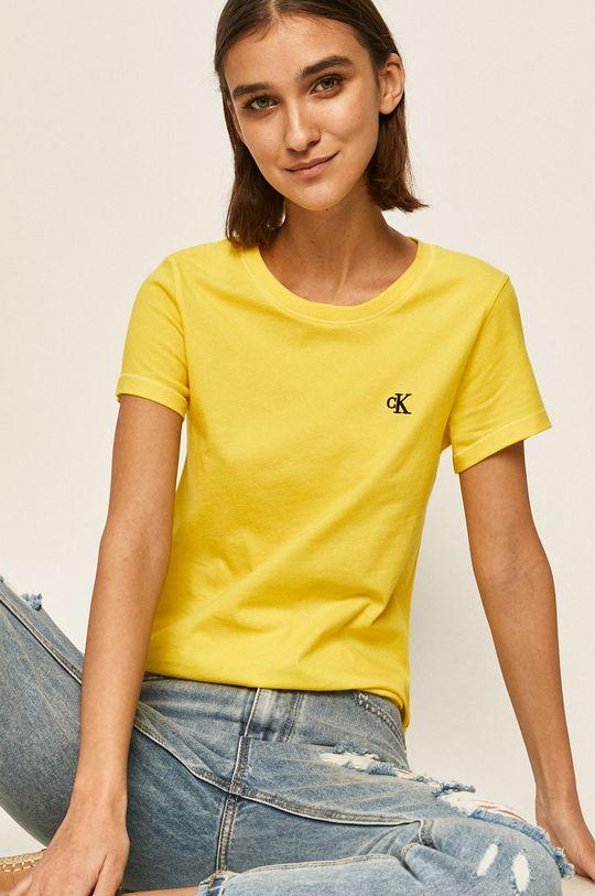 galben Calvin Klein Jeans - Tricou