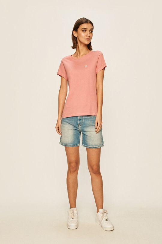 Calvin Klein Jeans - T-shirt brudny róż