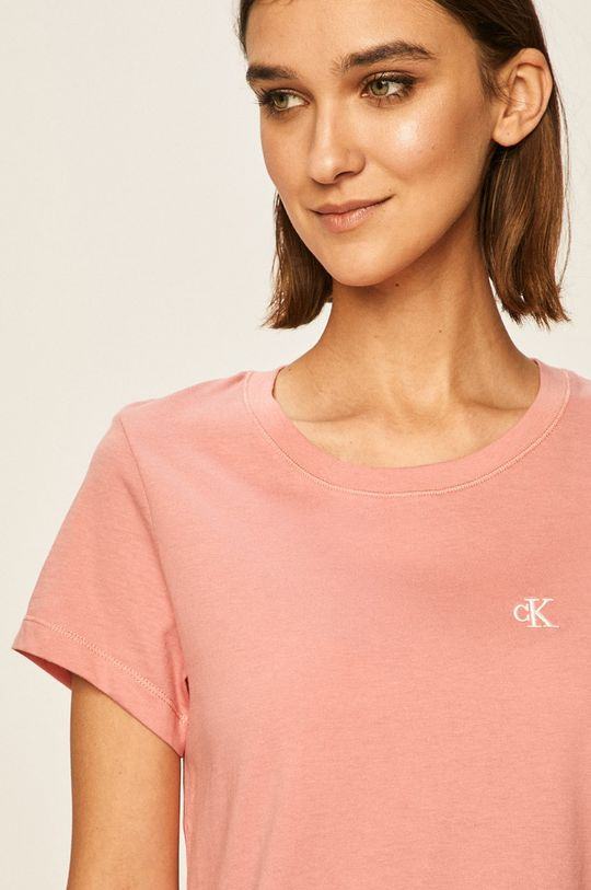 brudny róż Calvin Klein Jeans - T-shirt