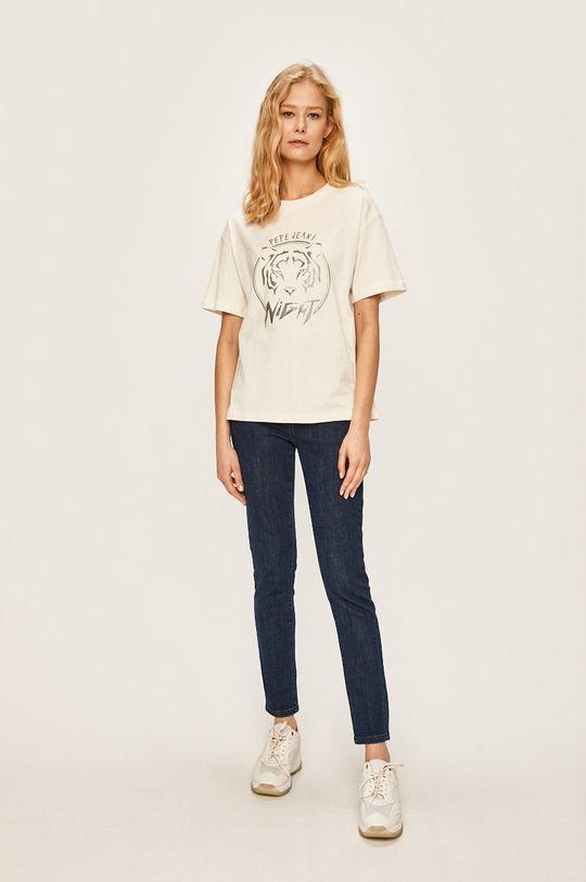 Pepe Jeans - Tričko Charlotte bílá