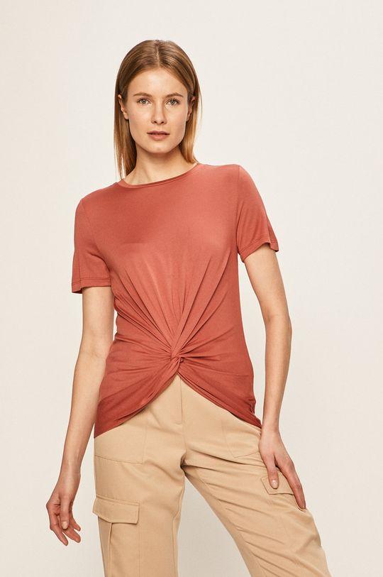 czerwony róż Vero Moda - T-shirt Damski