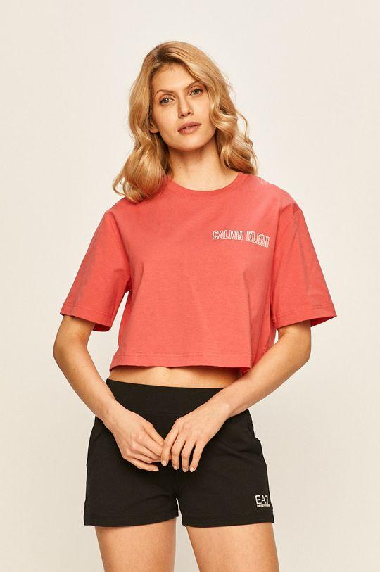 ostry różowy Calvin Klein Performance - T-shirt Damski