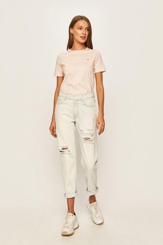 Calvin Klein - Tričko pastelová ružová