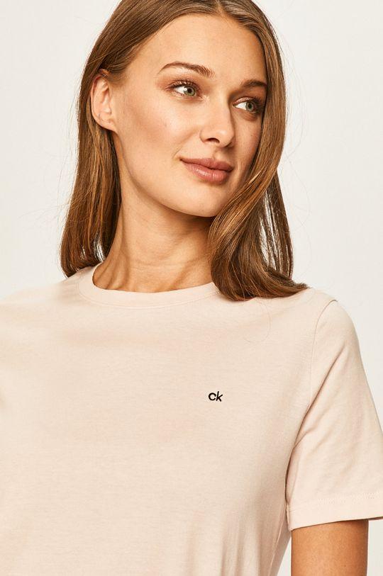 pastelová ružová Calvin Klein - Tričko