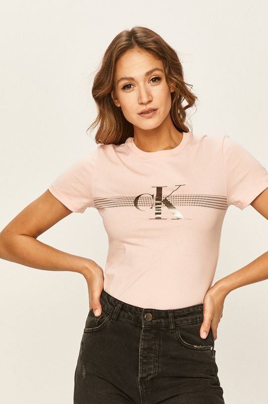 pastelově růžová Calvin Klein Jeans - Tričko Dámský