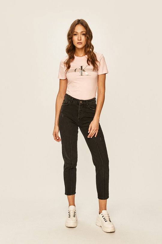Calvin Klein Jeans - Tričko pastelově růžová