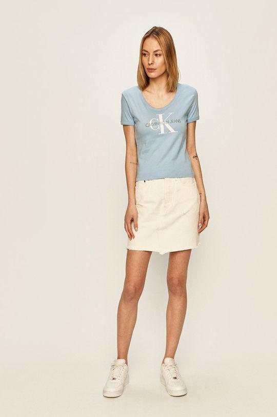 Calvin Klein Jeans - Blúzka svetlomodrá