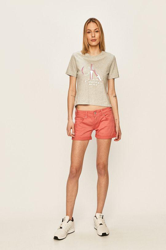 Calvin Klein Jeans - Tričko světle šedá
