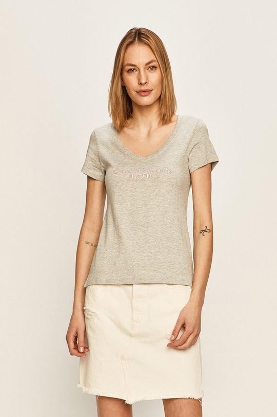 gri deschis Calvin Klein Jeans - Tricou De femei