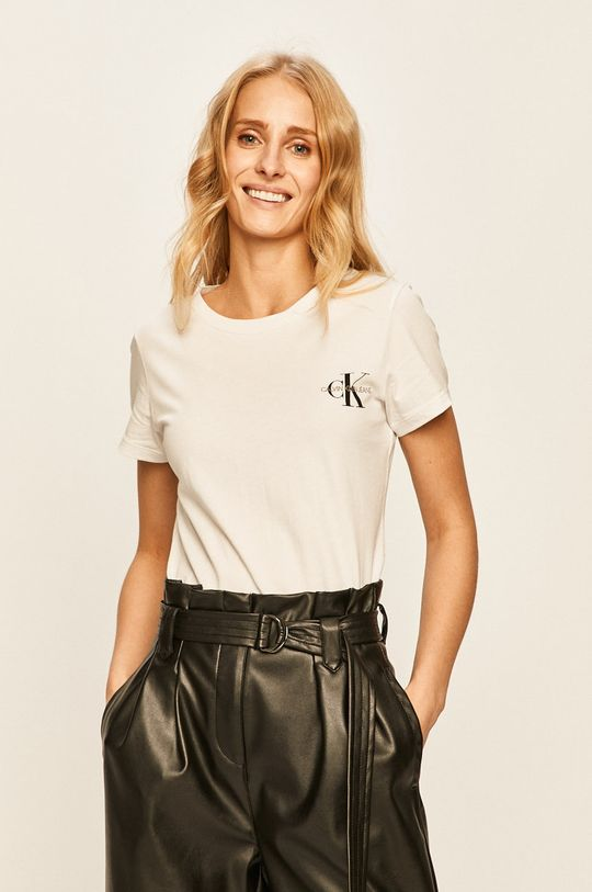 bílá Calvin Klein Jeans - Tričko (2-pack) Dámský