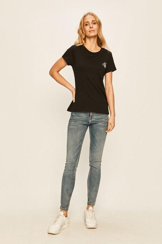Calvin Klein Jeans - Tričko (2-pack) černá