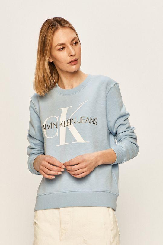 svetlomodrá Calvin Klein Jeans - Mikina Dámsky