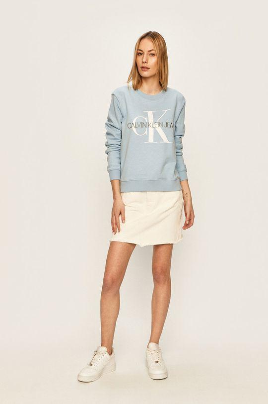 Calvin Klein Jeans - Mikina svetlomodrá