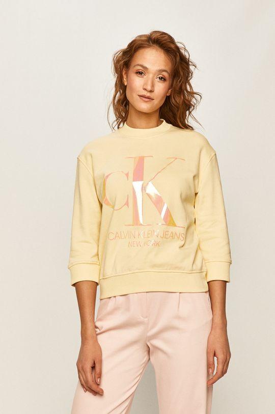 žlutá Calvin Klein Jeans - Mikina Dámský