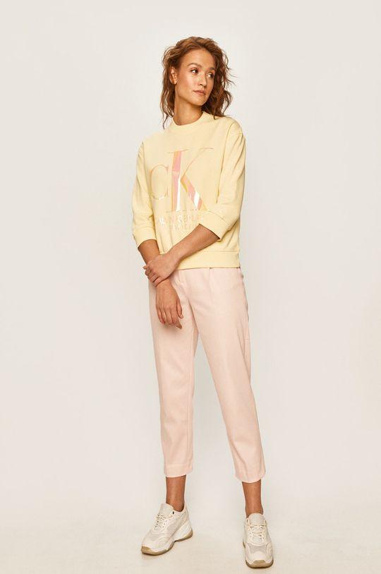 Calvin Klein Jeans - Mikina žlutá