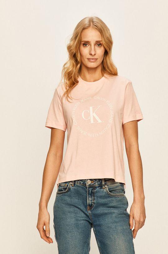 roz pastelat Calvin Klein Jeans - Tricou De femei