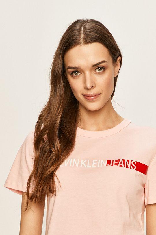 roz pastelat Calvin Klein Jeans - Tricou