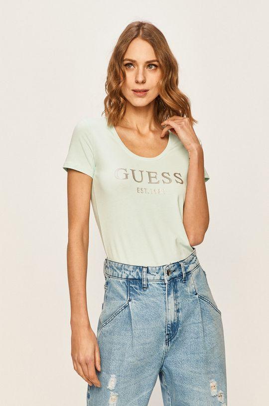 morská modrá Guess Jeans - Tričko Dámsky