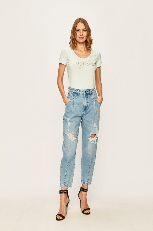 Guess Jeans - Tričko morská modrá