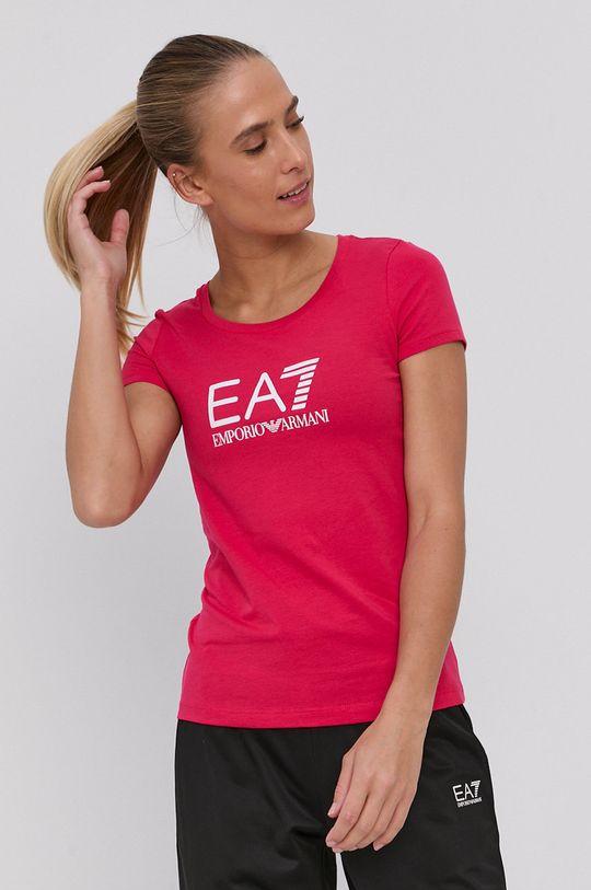 ostrá růžová EA7 Emporio Armani - Tričko Dámský