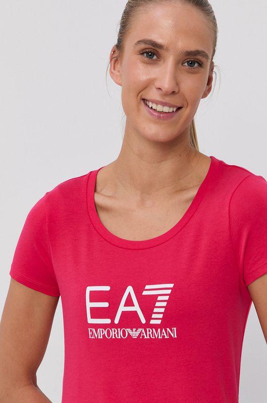 EA7 Emporio Armani - Tričko ostrá růžová