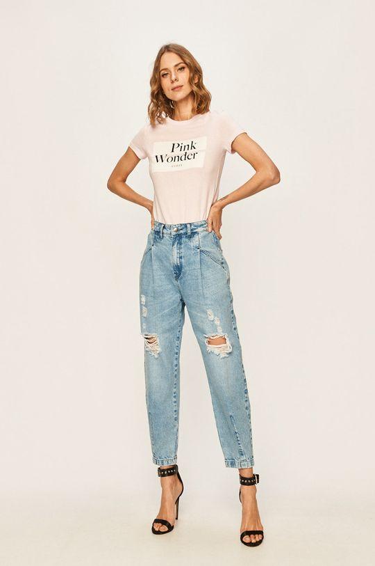 Guess Jeans - Tričko ružová