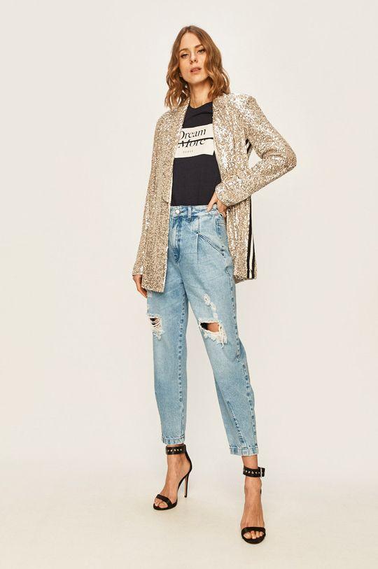 Guess Jeans - Tričko tmavomodrá