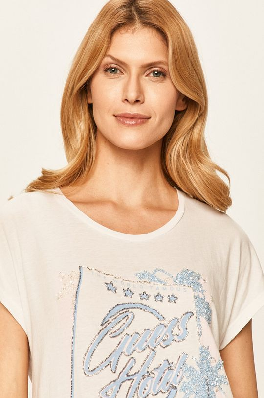 biały Guess Jeans - T-shirt