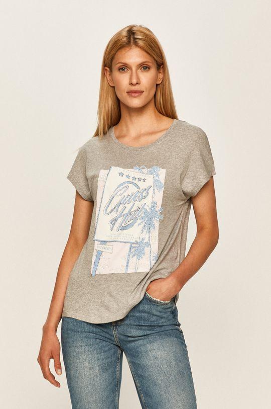 szary Guess Jeans - T-shirt Damski