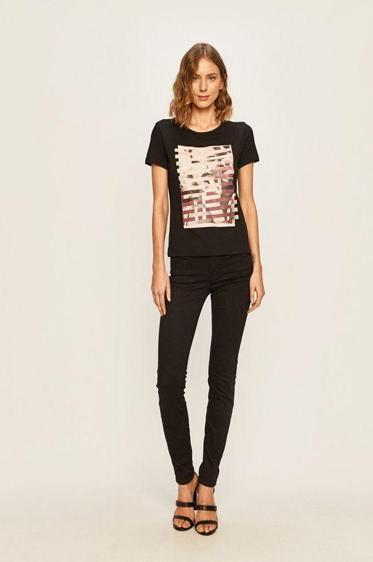 Guess Jeans - Tričko čierna
