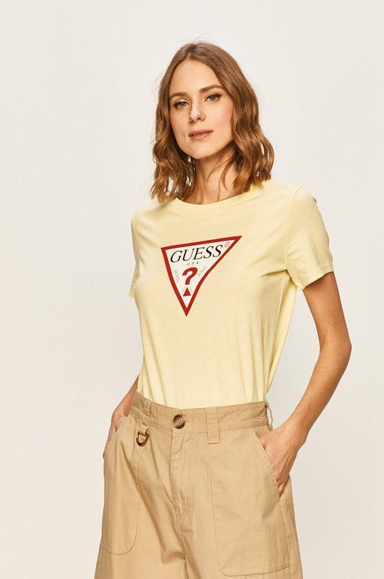 żółty Guess Jeans - T-shirt Damski