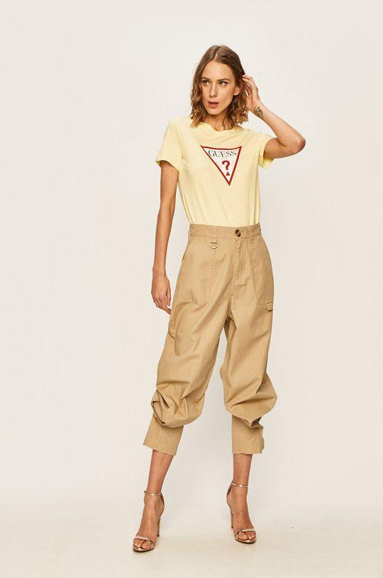 Guess Jeans - T-shirt żółty