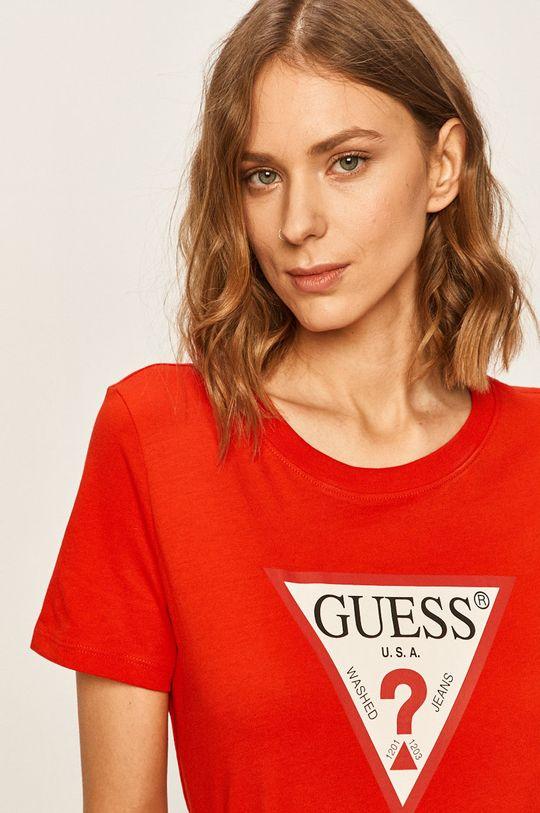 červená Guess Jeans - Tričko Dámský