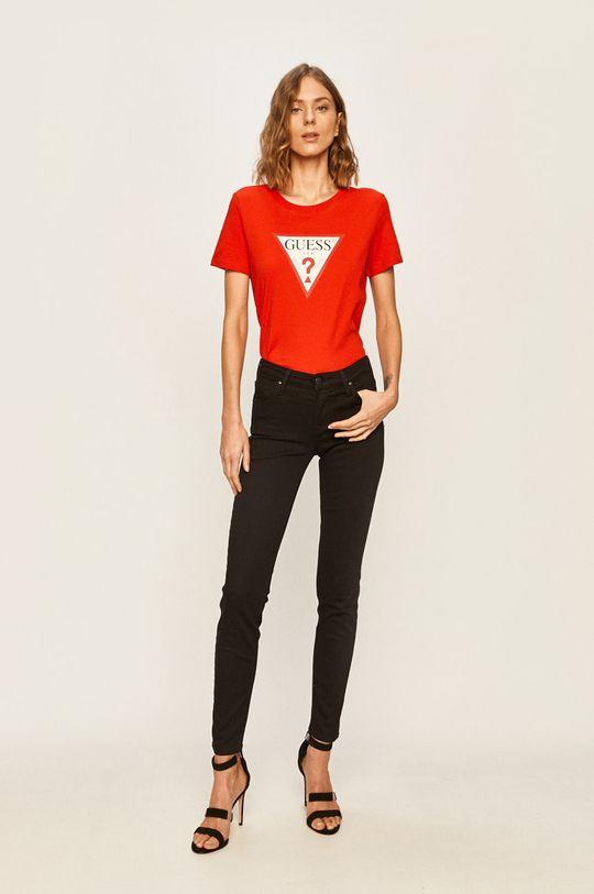 Guess Jeans - Tričko červená