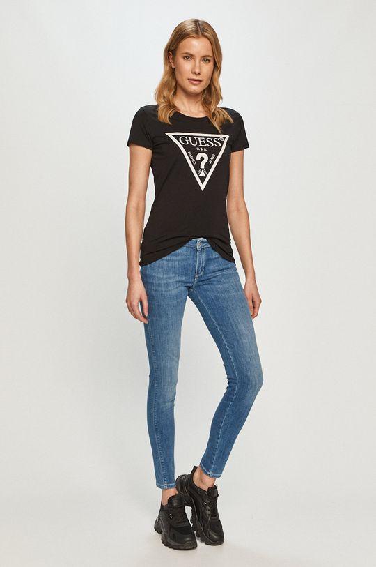 Guess Jeans - Tricou negru