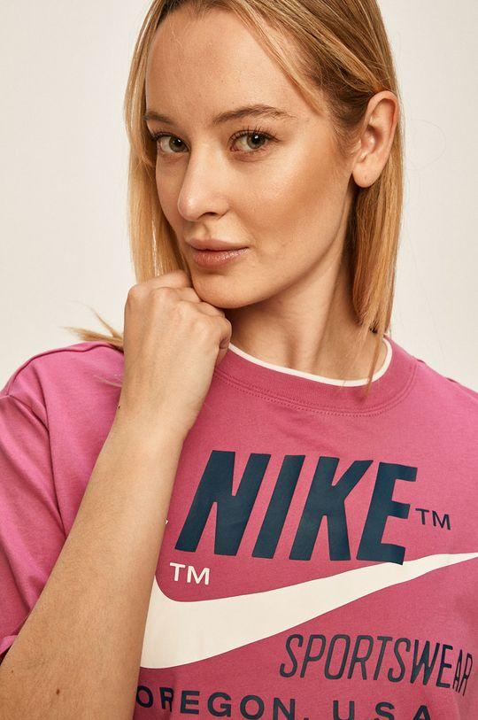 fuchsiová Nike Sportswear - Tričko