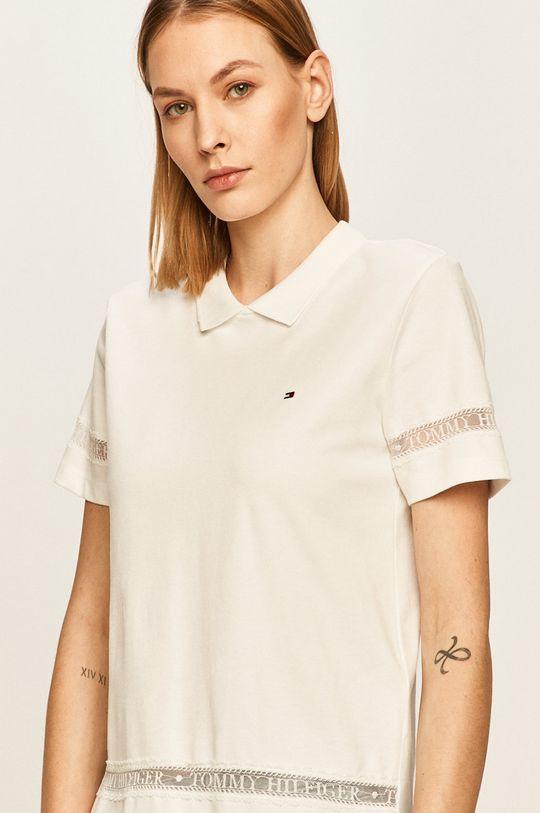 biały Tommy Hilfiger - T-shirt Damski